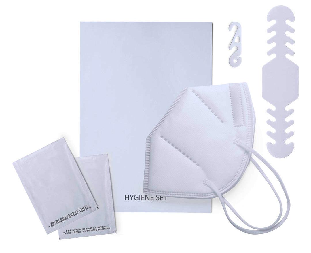 Práctico set higiénico, productos sanitarios.