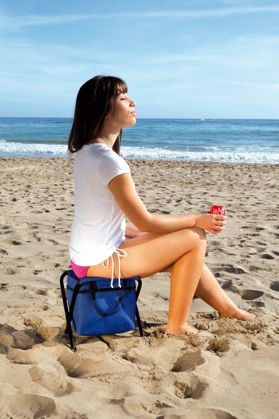 Silla nevera plegable ideal para un día en la playa